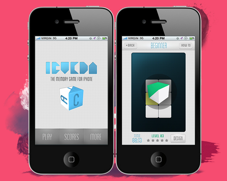 iCueda mobile game screens